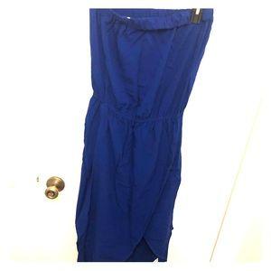 Royal blue splendid high low maxi dress